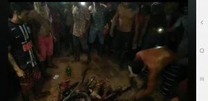 Cenas fortes: Populares invadem delegacia, esquartejam e queimam corpo de estuprador de menina de 10 anos 3